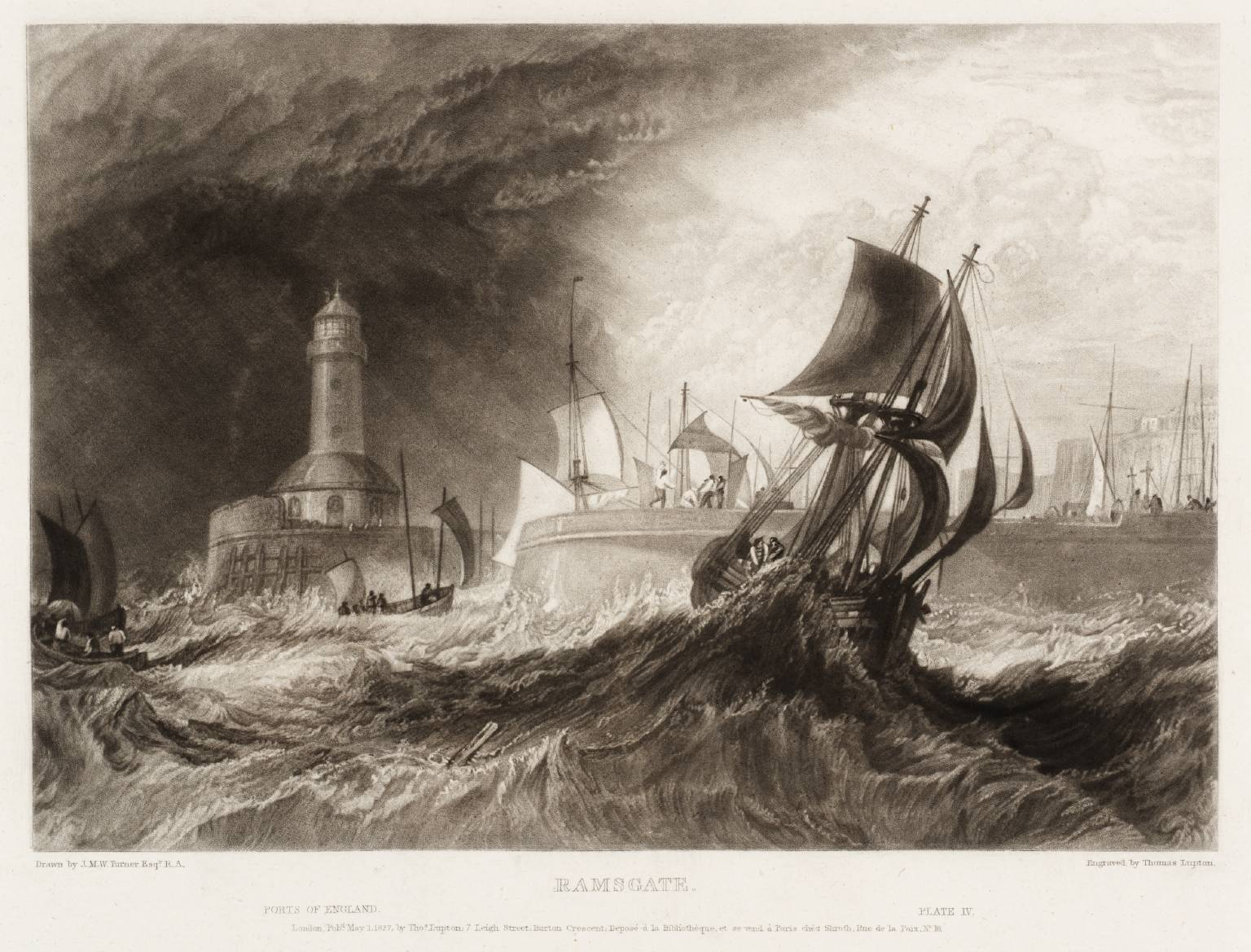 Ramsgate Harbour in a storm, by JMW Turner